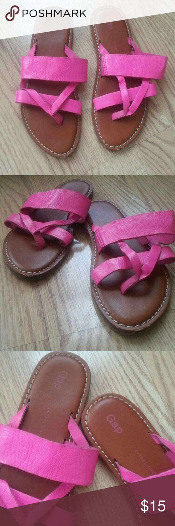 Gap  pink neon  flats Worn  twice ,minor scratches on tips GAP Shoes Flats & Loafers