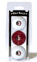 Florida State Seminoles 3 Pack of Golf Balls