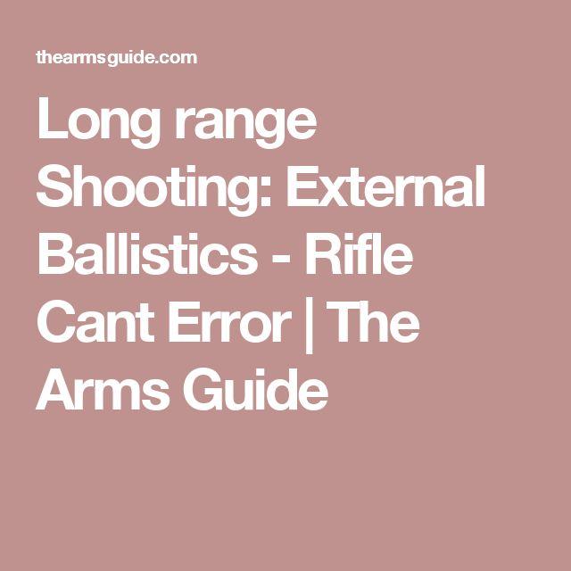 Long range Shooting: External Ballistics - Rifle Cant Error | The Arms Guide