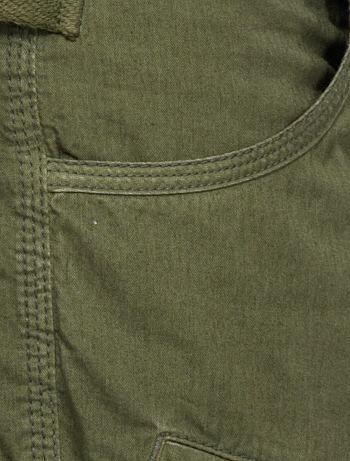 Pantalón tipo cargo 'Neverdry' + cinturón correa                     caqui Hombre