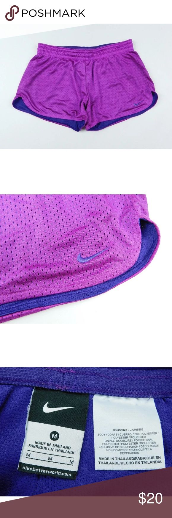 """🌼Nike🌼 Purple Running Shorts Breathable Pants M Gently used clothing. No flaws. WAIST 14"""" perfect for going for a run or walk or hitting the gym. Feel free to make an offer or bundle and save! Nike Shorts"""