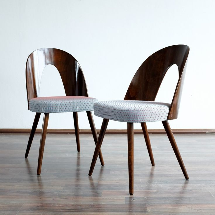 Set of 4 dinner chairs from the fifties by Antonin Šuman for Tatra Nabytok NP