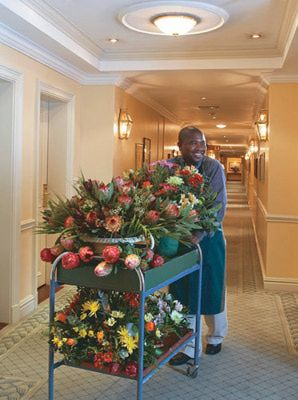 Flowers are indeed a welcome sight! Cape Grace Hotel in Cape Town, South Africa