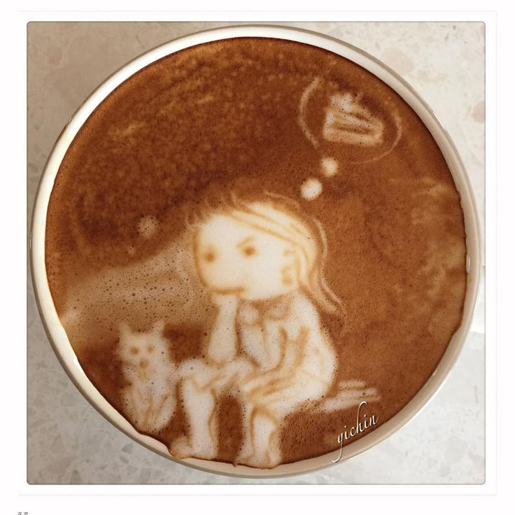"""I'm thinking about food #咖啡拉花 #coffee #crema #coffee #caffeine #cappuccino #coffeelove #coffeetime #morning #coffee #latte #latteart #coffeeart…"""