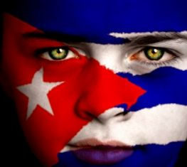 Cuban flag. Yes I'm a Proud Cuban. Just mad I didnt get the colored eyes. ha