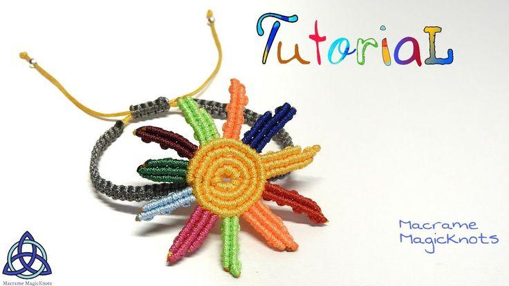 Macrame Bracelet Tutorial: Sunflower  Friendship - YouTube