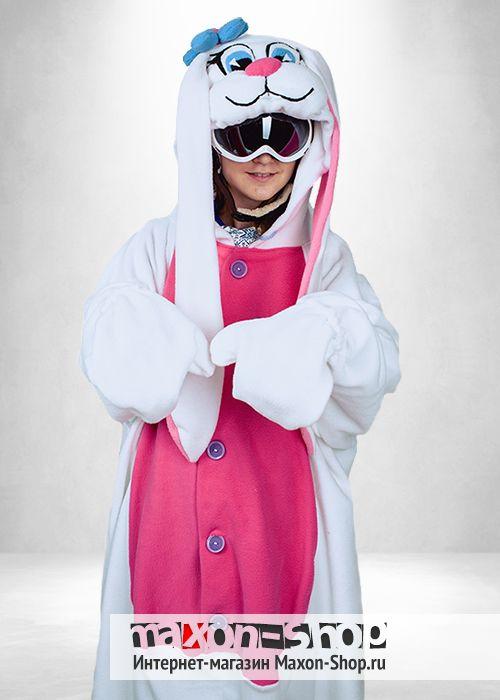 Белый Заяц Банни пижама кигуруми для малышей в Максоншоп  3881dafd72d54