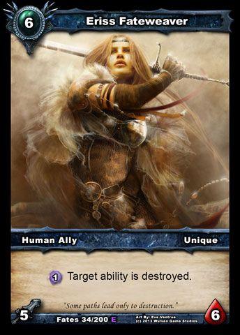 Shadow Era: Shattered Fates New human ally: Eriss Fateweaver