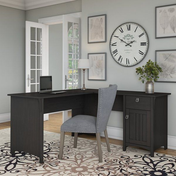 The Gray Barn Lowbridge L Shaped Desk With Storage In Vintage Black L Shaped Corner Desk Home
