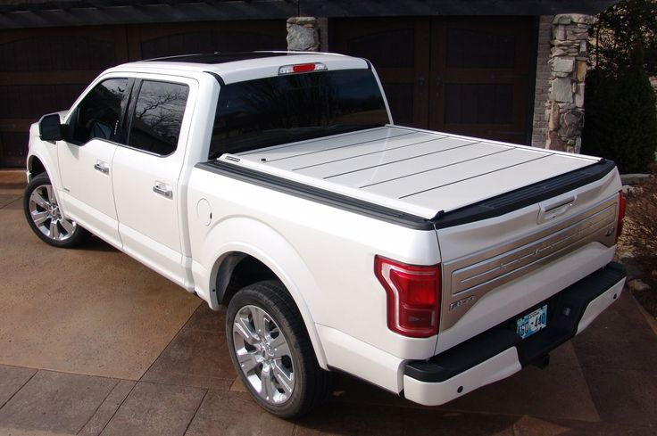 Discover retractable pickup truck bed covers from Peragon! These solid aluminum tonneau covers include a lock and key, and are easily folded and removed.