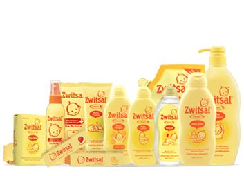 Zwitsal - baby soap, hair lotion, body lotion, shampoo & cologne. I loveee the fragrance..