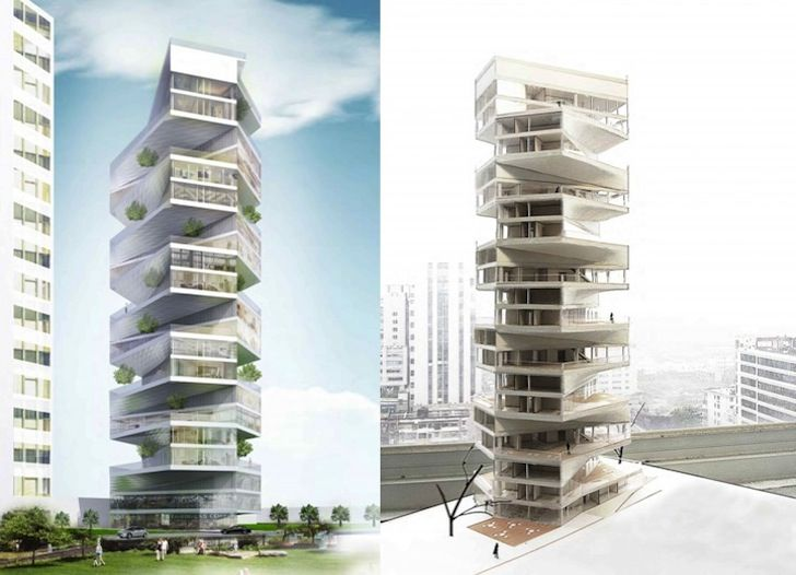 Writhing Tower Boasts a Garden and Trees for Each Condo in Peru