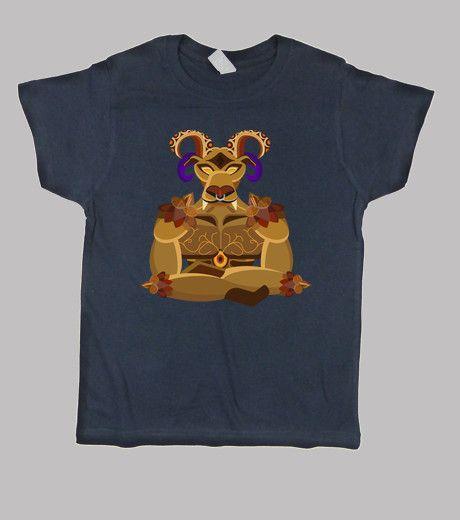 Camiseta de niños de la invocacion del rpg final fantasy ifrit