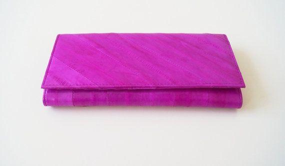 Lederen portemonnee Lara in roze echt leer door Taschenkinder
