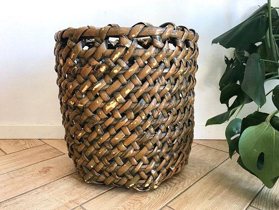 Large Weave Medium Basket Thick Weave Wicker Storage Basket Deep Narrow Planter Pot Basket Me Wicker Baskets Storage Storage Baskets House Warming Gifts