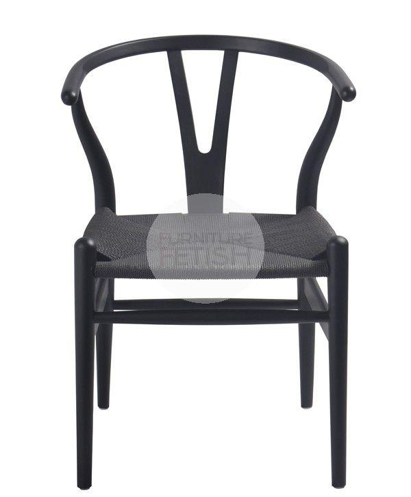 Replica Hans Wegner Wishbone Chair - Beechwood Black