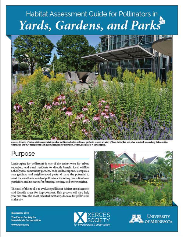 Habitat Assessment Guide for Pollinators in Yards, Gardens ...