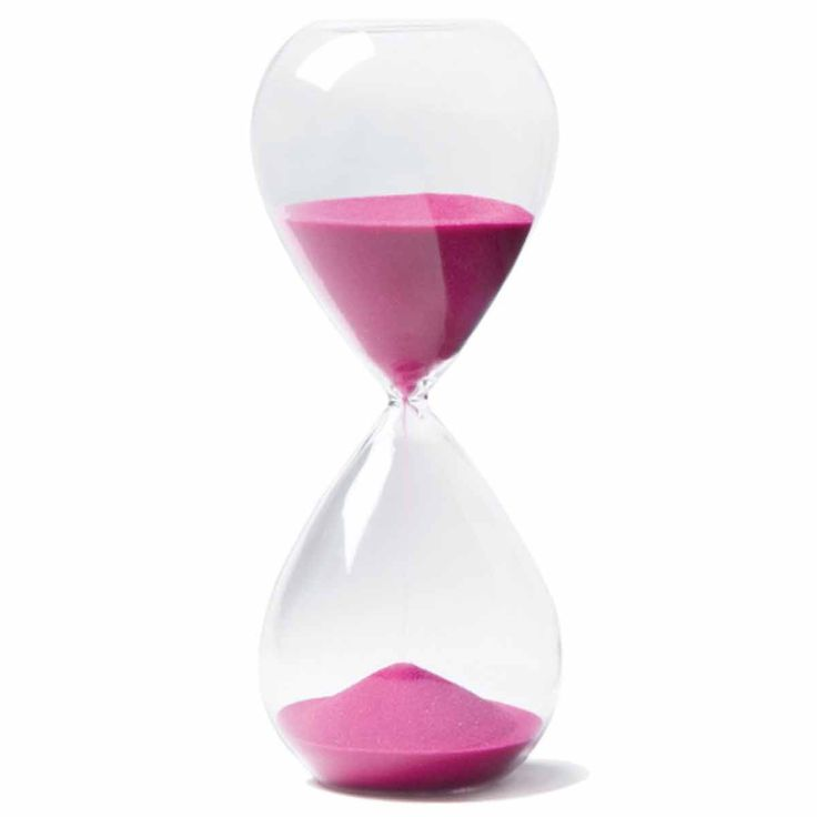 Pink Hourglass Sand Timer - Available from The Present Finder