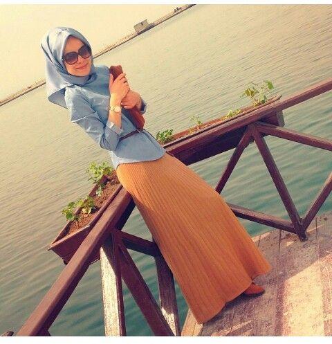 ..Hijabi Cruising Outfit Idea..
