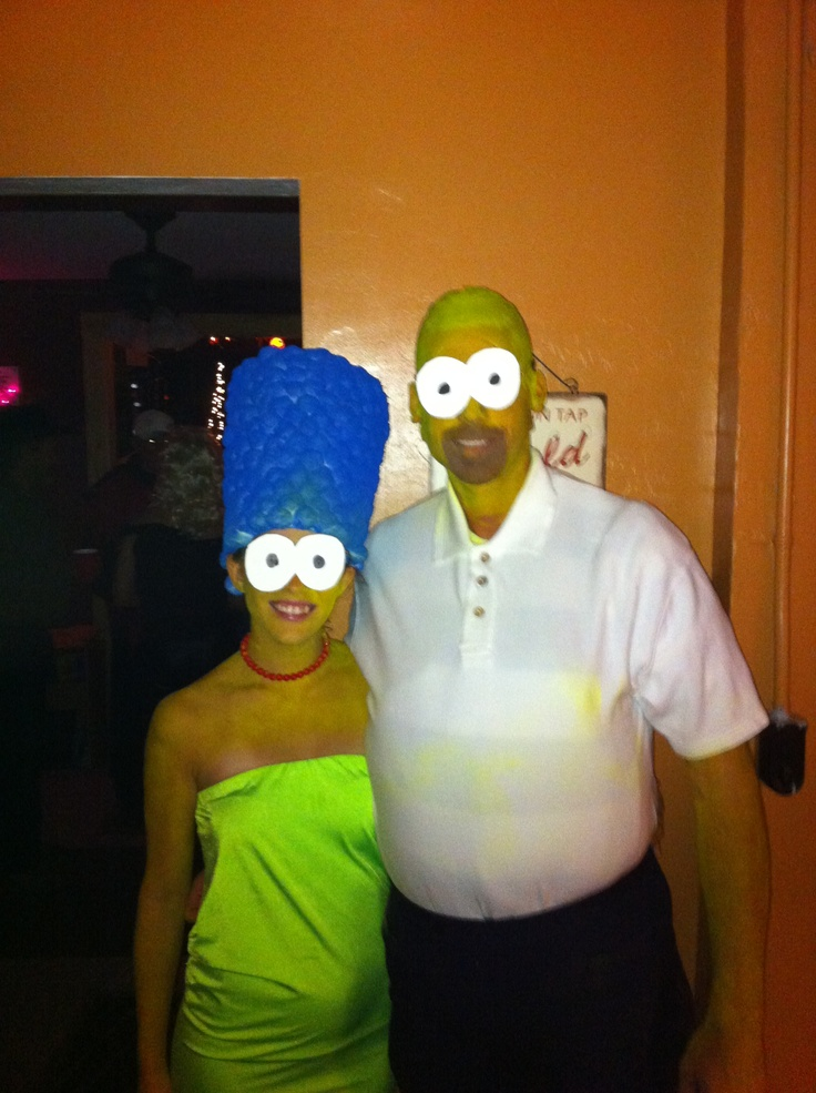 marge homer simpson halloween costume christmas party outfits pinterest simpsons halloween and halloween costumes - Simpson Halloween Costume