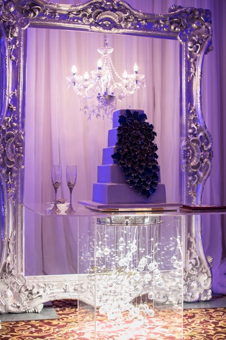 Excellent Cake Table Decor with Lovely Chandeliers