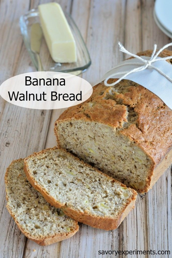 Banana Walnut Bread Recipe- The most moist classic banana walnut bread ...