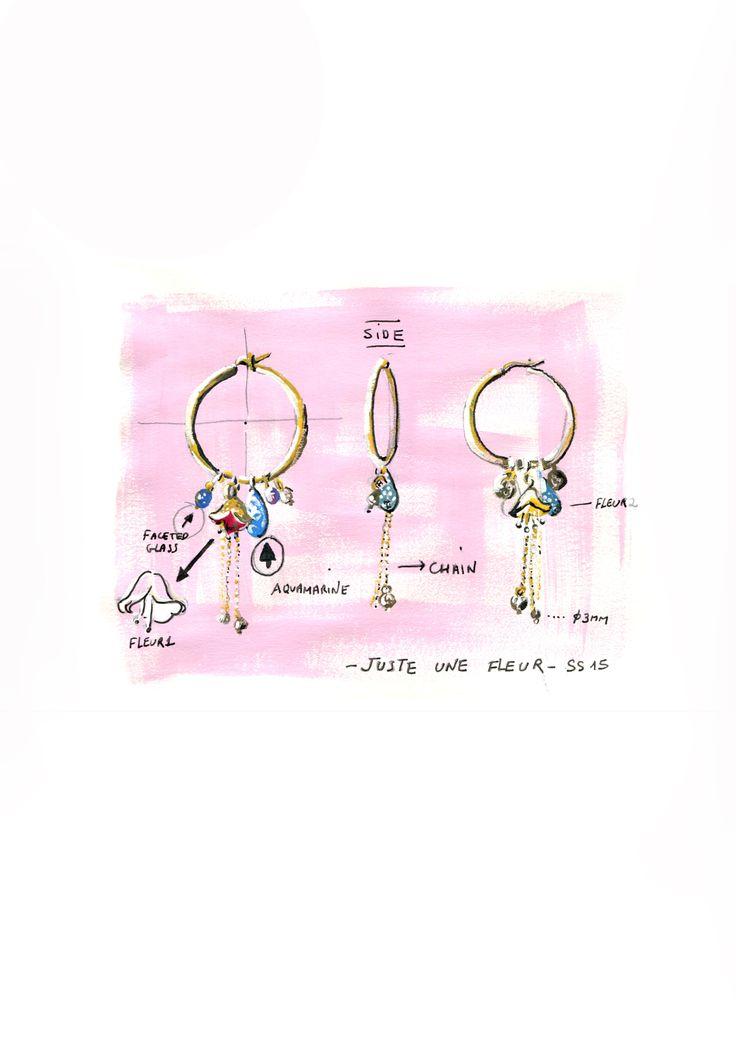 Juste Une Fleur Collection - Earrings