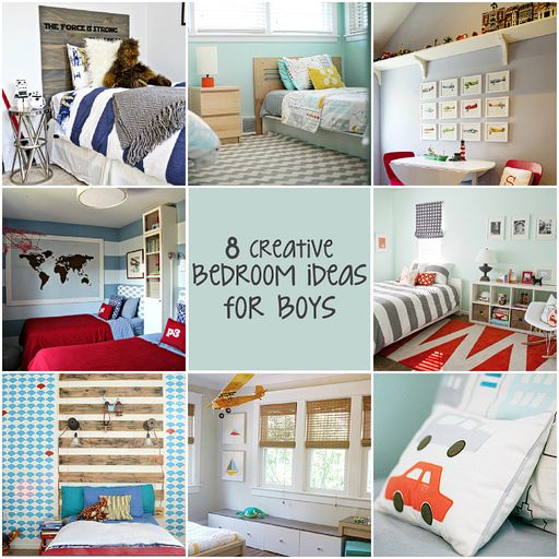 8 Creative Bedroom Ideas for Boys-some really cute ideas and color schemes