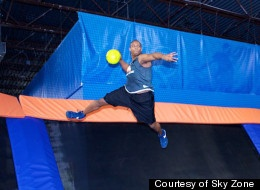 Ultimate Trampoline DODGEBALL?! Uh, YES PLEASE!