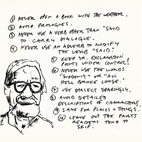 Ten Rules, Elmore Leonard    (Source: nevver, via avanelle)