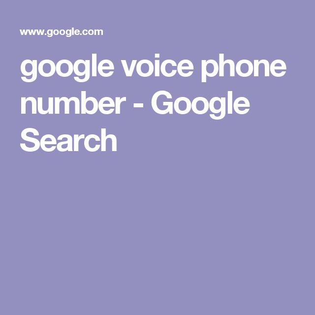 google voice phone number - Google Search