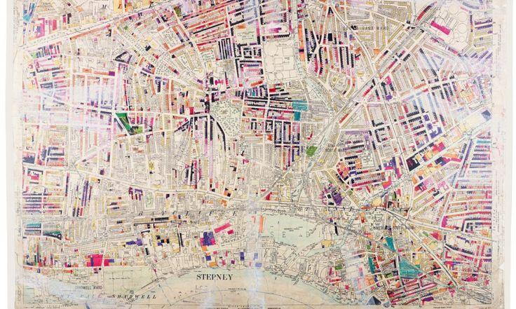 Les cartes peintes à la main de la destruction de Londres pendant le Blitz