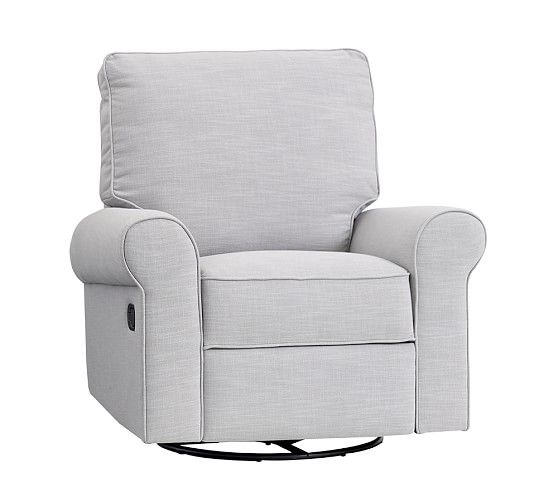 Comfort Recliner, Washed Grainsack Gray | Pottery Barn Kids