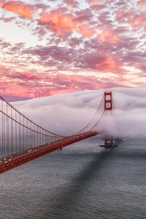 Rolling fog, San Francisco