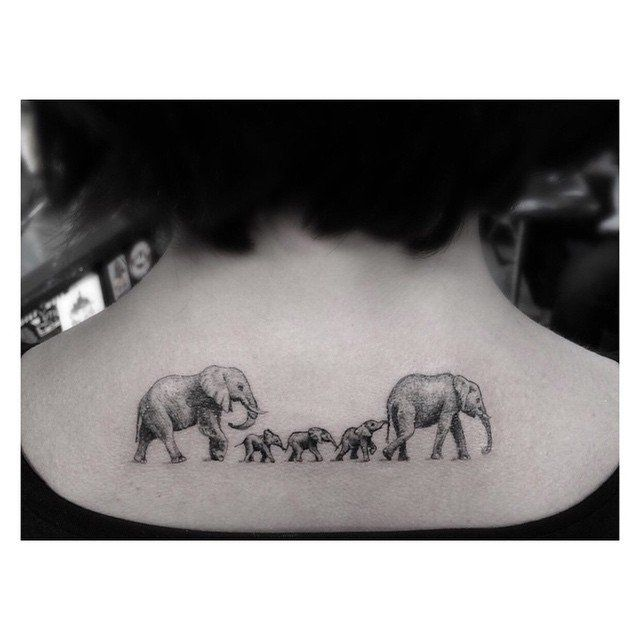 "Pin for Later: 14 Tattoo Ideas For Parents Wanting to Honor Their Kids Family ""Portrait"""