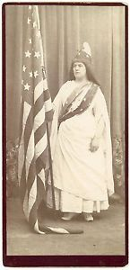 Woman with Large American Flag