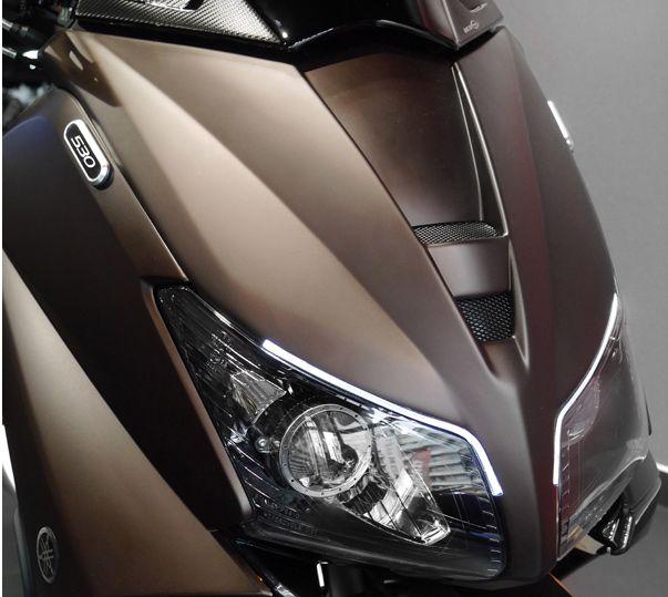 BCD Face Avant Daylight Led Yamaha t-MAX / TMAX 530 (COULEUR MARRON MAT BRONZE ORIGINE YAMAHA) T-MAX 530 4t LC inject (à partir de 2012)