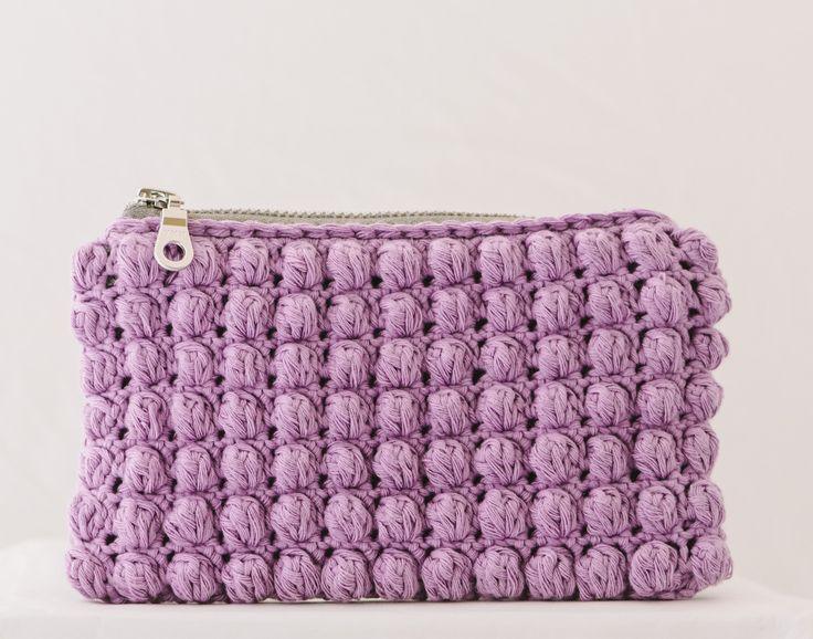 lilac mini crochet porte-monnaie