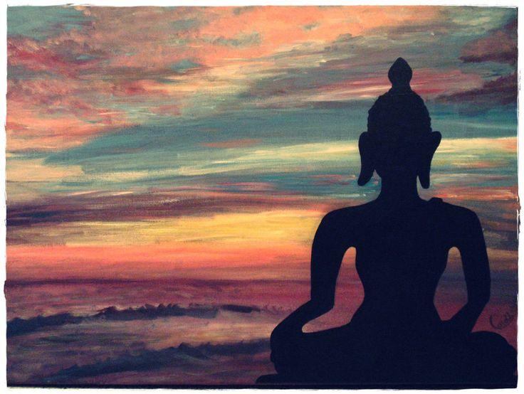 Acrylmalerei - Acrylbild In der Ruhe liegt die Kraft   - ein Designerstück von HOAMELIGundSCHEAN bei DaWanda