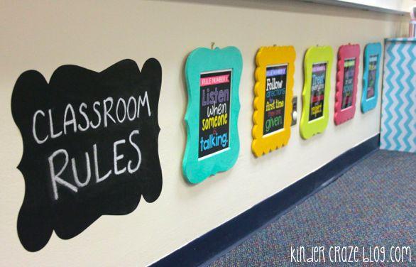 FAQ: All About My Classroom Rule Frames & Subway Art - Kinder Craze