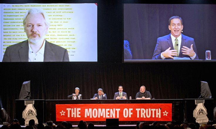 Greenwald, Dotcom, Snowden and Assange take on 'adolescent' John Key