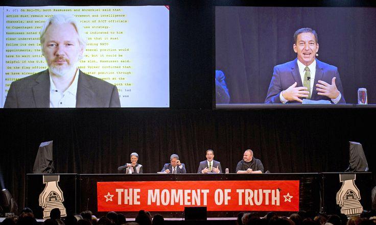 Greenwald, Dotcom, Snowden and Assange take on 'adolescent' John Key