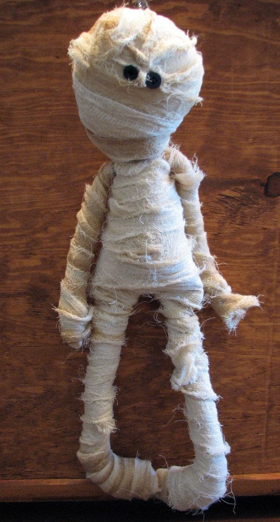 Mummy Doll Primitive Country Halloween Decoration Too