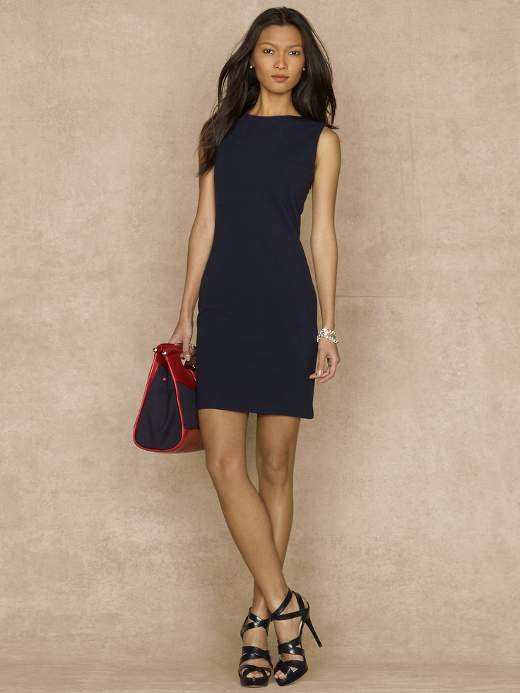 Phoebe Stretch Shift Dress - Short Dresses Dresses - RalphLauren.com