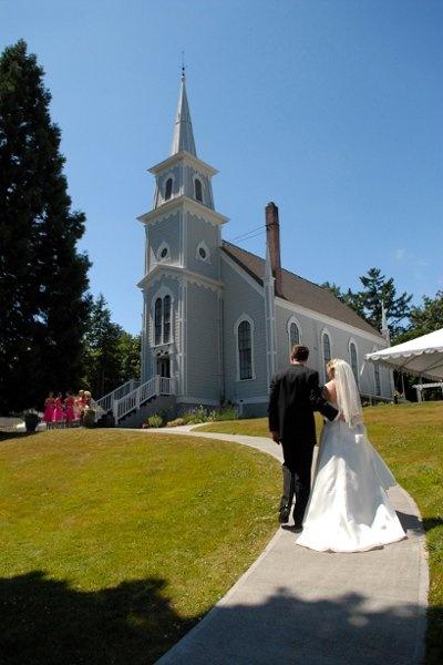 Wedding Venue St. Paul's Church Port Gamble, Washington, Olympic Peninsula www.1047theloop.com