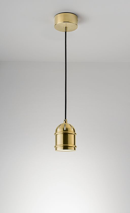 Manhattan ceiling pendant in Brushed Brass