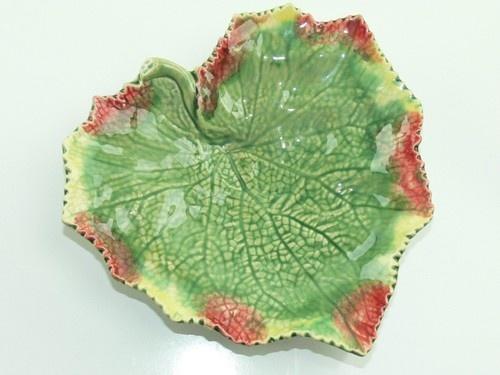 "Bordallo Pinheiro Portugal Majolica Green Grape Leaf Plate Dish 7 25"" | eBay"
