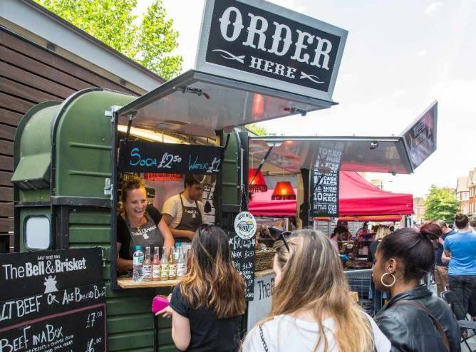 Kerb street food stall ©Spitalfields_E1/Flickr