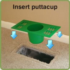 Puttacup. Remove your floor vent and add one of these instead. Sign me up - these are awesome!