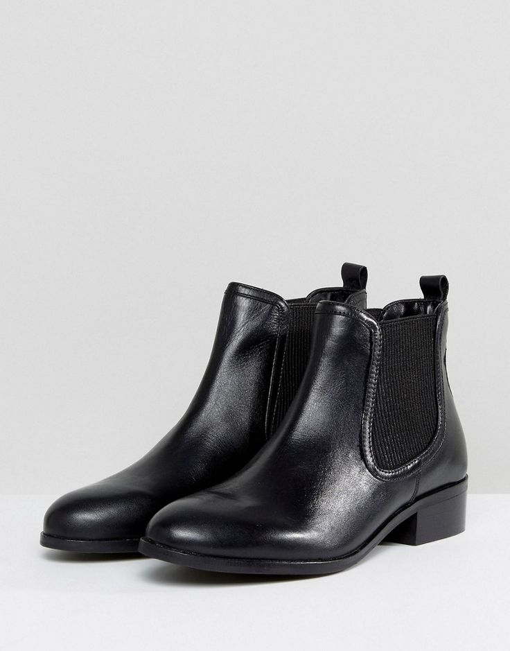 Rule London Leather Flat Chelsea Boot - Black